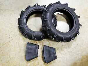 Two New 5 12 Duramax Ag Deep Lug Compact Tractor Tires 4 Ply With Tubes