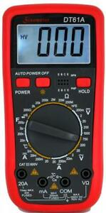Sinometer Dt61a Ac Dc 20a Current Digital Multimeter With Temperature