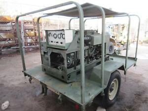 Libby Welding Mep003a Diesel Military Ac Generator 10 Kw On Trailer