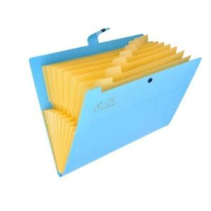 Tenn Well Pocket Document File Folder 8 Pockets Expanding A4 And Letter