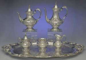 Reed Barton King Francis Silverplate 6 Piece Plated Tea Set 1930906