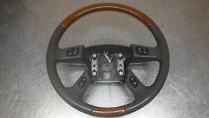Chevrolet Tahoe Suburban Yukon Escalade Steering Wheel 03 06 Brown Leather Wood