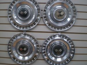1961 Chevrolet Impala Bel Air Nomad Corvair Wheel Cover Hubcaps Oem Set 61
