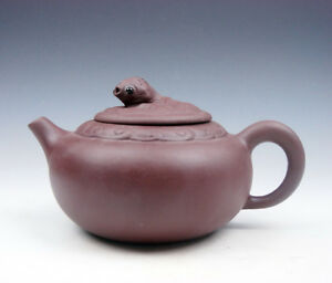 Yixing Zisha Clay Unique Teapot W Big Tail Goldfish Lid 275ml 11021801