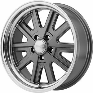 15x8 Gray American Racing Vintage Vn527 Wheels 5x4 75 0 Fits Buick Special