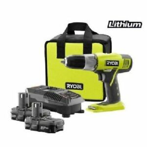 Factory reconditioned Ryobi Zrp896 18v Cordless Lithium ion 1 2 In Drill