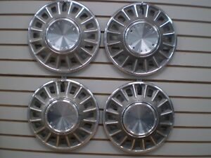 1968 Ford Mustang Wheel Covers Hubcaps Set Oem 68