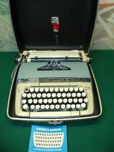 Vintage Smith Corona Galaxie Deluxe Typewriter W case User Manual