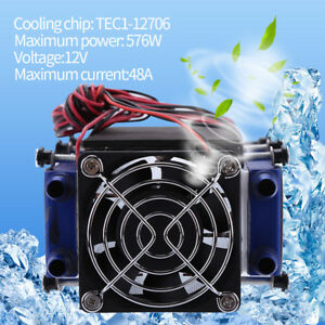 12v 576w 8 chip Tec1 12706 Diy Thermoelectric Cooler Refrigeration Air Cooling