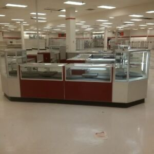 Glass Jewelry Showcase Display Cash Wrap Cases Used Store Fixtures Liquidation