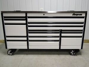 Snap On White 84 Epiq Tool Box Toolbox Power Stainless Steel Work Top