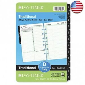 Day timer 2019 Daily Planner Refill 5 1 2 quot X 8 1 2 quot Desk Size 4