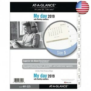 At a glance 2019 Daily Planner Refill Day Runner 8 1 2 quot X 11 quot Fo