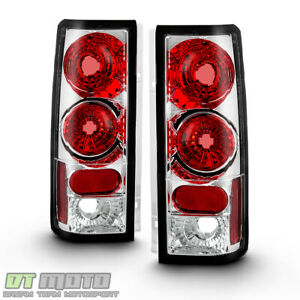 1985 2005 Chevy Astro Gmc Safari Chrome Tail Brake Lights Lamps Pair Left Right