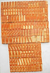 161 Piece Vintage Letterpress Wood Wooden Type Printing Blocks 50 M m Bc 1247