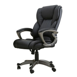 Modern Premium Executive Desk Chair High Back Office Chair Pu Leather Heavy Duty