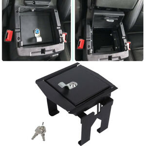Car Security Console Insert Seat Storage Lock Box For 2018 2019 Jeep Wrangler Jl