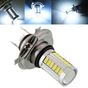 H4 33 Smd 5630 Led 800lm White Car Signal Headlight Auto Fog Light Bulb Dc 12v