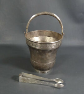 Antique Vietnamese Silverplate Champagne Wine Cooler Ice Bucket