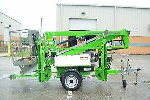 Nifty Tm34t 40 Boom Lift hydraulic Outriggers 20 outreach battery Powered