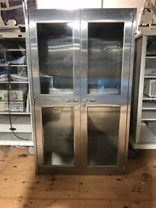 Stainless Steel And Glass Medical Cabinet