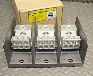 New Ilsco Pdb 16 500 3 Power Distribution Block 380 Amp 600 Volt 3 Pole
