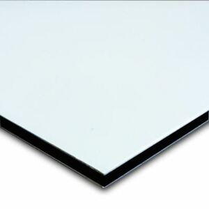 Aluminum Composite Sign Panel Sheet 3mm 1 8 X 24 X 48 Satin White