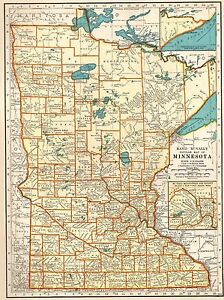 1939 Antique Minnesota State Map Vintage Map Of Minnesota Gallery Wall Art 5876