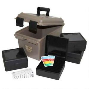 MTM Ammunition Can Combo Plastic Dark Earth w Ammo Boxes ACC308