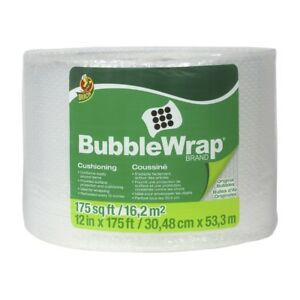 Duck 3 16 Inch Bubble Wrap Cushioning Clear Roll Padding Packaging 12x175 Ft