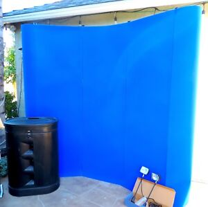8 Pop Up Trade Show Exhibit Display Booth Frame Stand Wall Curved Blue Panel