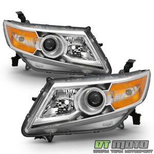For 2011 2017 Honda Odyssey Headlights Headlamps Chrome Replacement Left right