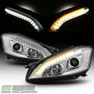 2007 2009 Mercedes Benz W221 S Class Hid Version Led Drl Projector Headlights