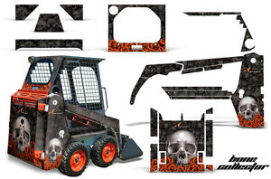 Graphics Kit Decal Wrap For Bobcat Skidsteer Mini Loader Skid Steer Bones Orange