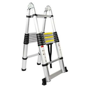 330lb 16 5ft Multi Purpose Aluminum Telescopic Ladder Folding Extension 16 step