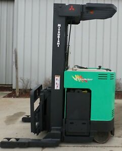 Mitsubishi Model Esr36 2001 4500lbs Capacity Great Reach Electric Forklift
