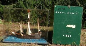 Vintage Wood Ship Model Of Santa Maria Newark Museum Hand Made Replica
