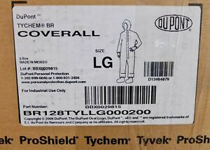 X2 Dupont Tychem Br Coverall Sz Large Br128tyllg000200 Protective Suit Yellow