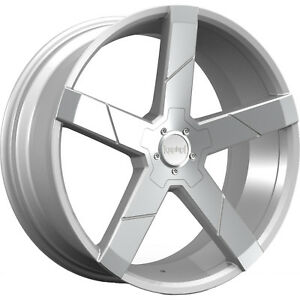 22x8 5 Silver Wheel Kronik Ghost 5x120 40
