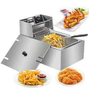 6l 2500w Electric Deep Fryer Commercial Restaurant Fast Food French Fry Cooker