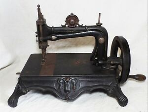 Rare Antique 1880s Bremer Bruckmann Cast Iron Brunonia Sewing Machine Works