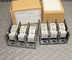 2 Lot New Shawmut Gould 67033 Power Distribution Block 600 Volt 3 Pole Pdb