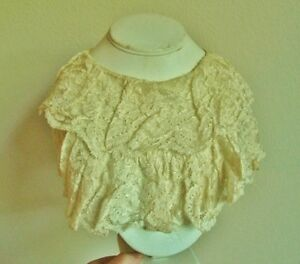Antique Vintage Lace Collar Ruffled Layered