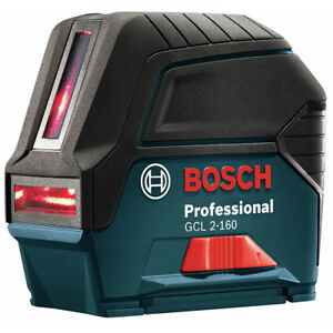 Bosch Gcl2160srt Self leveling Cross Line Laser W Plumb Points Recon