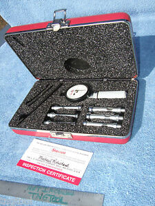 Starrett No 82bz Dial Bore Gage Set Machinist Toolmaker Qa Inspect Quality Clean