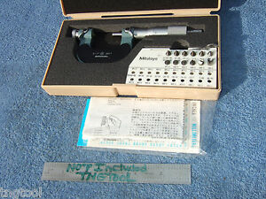 Thread Micrometer Mitutoyo 126 901 W 12 Anvils 0 1 Almost 900 New Machinist