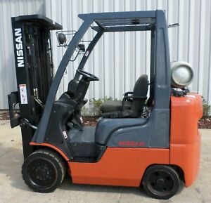 Nissan Model Mcpl02a25ls 2005 5000lbs Capacity Great Lps Cushion Tire Forklift