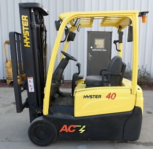 Hyster Model J40xnt 2011 4000 Lbs Capacity Great 3 Wheel Electric Forklift