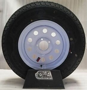 15 Trailer Wheel Rim 5 Lug 5x4 5 New White Modular 205 75r15 Tire 8ply