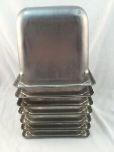 Lot Of 7 syscoware 18 8 Stainless Steel Steam Table Pans 1 6 Size 6 Deep used